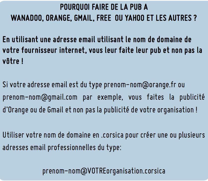 nom de domaine et adresse mail