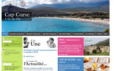 La Communauté de Communes du Cap Corse est en .corsica
