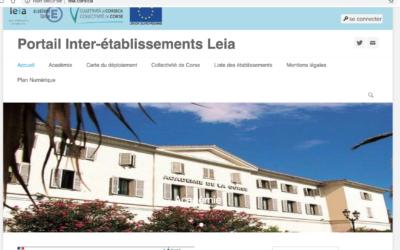 Leia.corsica: l'Espace Numérique de Travail des collèges et lycées de Corse.
