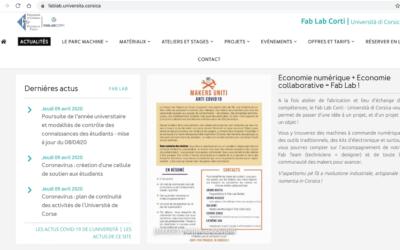 Fab Lab Corti impliqué dans la lutte contre le covid-19