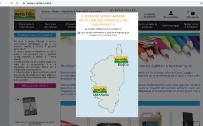 La complémentarité entre magasins physiques et site web .CORSICA